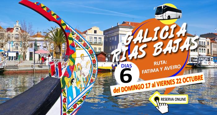 17-10-21 :: Circuito en Autobús :: Galicia Rias Bajas :: Ruta por Aveiro y Fátima :: 6 Días