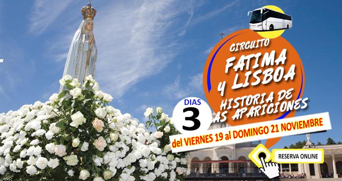 19-11-21 Circuito en Autobus :: Fatima y Lisboa :: Hotel Avenida :: 3 dias