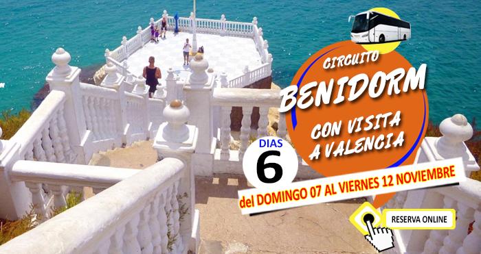 07-11-21 Circuito en Autocar :: Benidorm :: Con visita a Valencia :: Hotel Los Alamos 4* :: 6 Dias