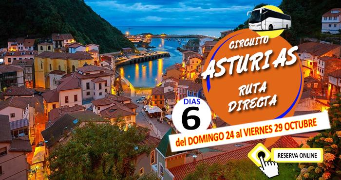24-10-21 Circuito en Autocar :: Asturias :: Ruta Directa :: Hotel Begoña 3*** :: Gijón :: 6 Días