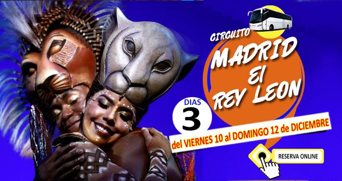 10-12-21 Circuito en Autobús :: Madrid :: Especial el Rey León :: Hotel Hostal Torrejon 3*** :: Torrejon de Ardoz :: 3 DIas