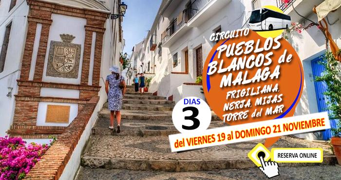 Circuito en Autobús :: Pueblos Blancos de Malaga :: Frigiliana, Nerja, Mijas, Torre del Mar :: Hotel Toboso Chaparil 3*** :: 3 Días